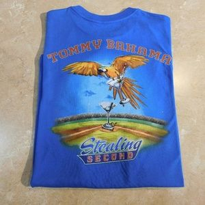 Tommy Bahama Blue STEALING SECOND Cotton Tee Shirt